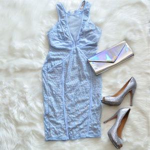 L'Atiste Baby Blue Lace Tassel Dress Sz M